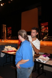 Getting my shirt signed by Ennio!