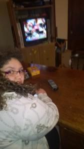 Bela guarding the remote!