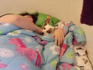 Jinx was enjoying some snuggle time this morning.