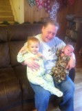 "Bela took this of me with ""my"" two babies.  Laura did all the work!"