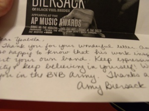 Amy wrote such a sweet response!