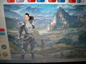 This is my daughter's warrior character.