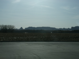 Deb was kind enough to pull over so I could get a shot of Scottsbluff.