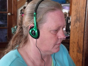 Ysabela got me head phones for my birthday!  I was thinking I needed a pair, but I hadn't mentioned it out loud!