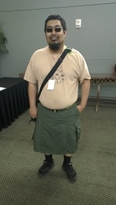 Frank said his kilt was tactical and practical.  I'm still laughing about that!