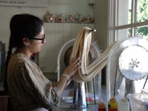 Taffy making in San Diego....