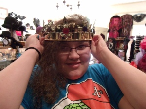 That crown was large and heavy.